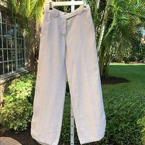 WEEKEND MAXMARA Linen Trousers SZ 6